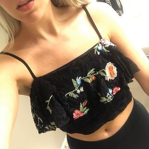 Nasty Gal floral crop top